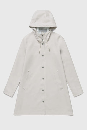 Stutterheim Mosebacke light sand raincoat A-line raincoat. PIPE AND ROW