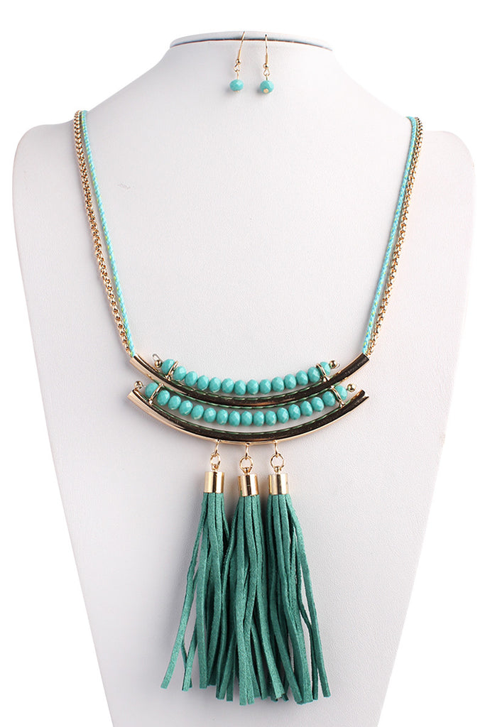 Tassel Statement Necklace Set