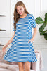 Short Sleeved Striped Pocket Dress