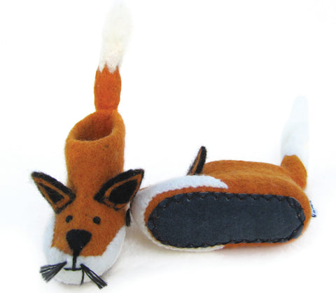 SEW HEART FELT Finley the Fox Felt Animal Slippers