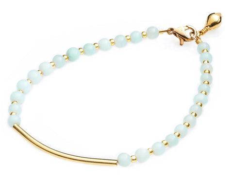 CINDERELA B Amazonite Gemstone Amulet Friendship Bracelet (