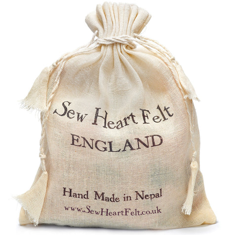 Sew Heart Felt Organic Cotton Drawstring Bag