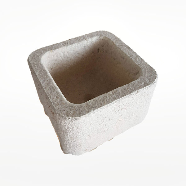 Mycelium Grown Square Planter