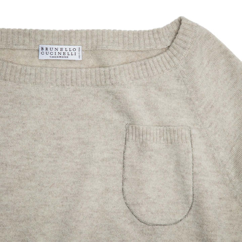 Find an authentic preowned Brunello Cucinelli Grey Cashmere Long Sweater, size M at BunnyJack.