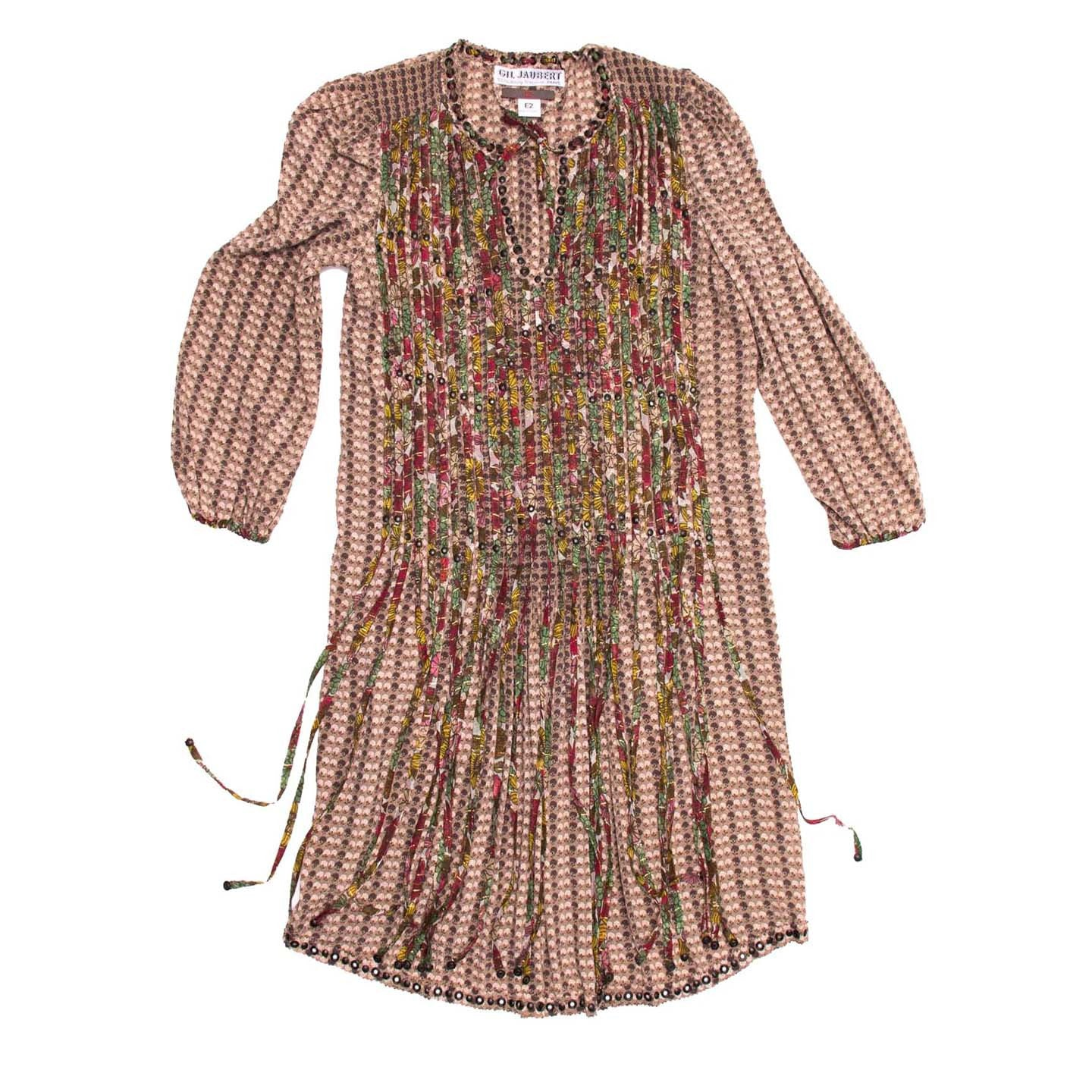 Multicolor Vintage Fringe Dress