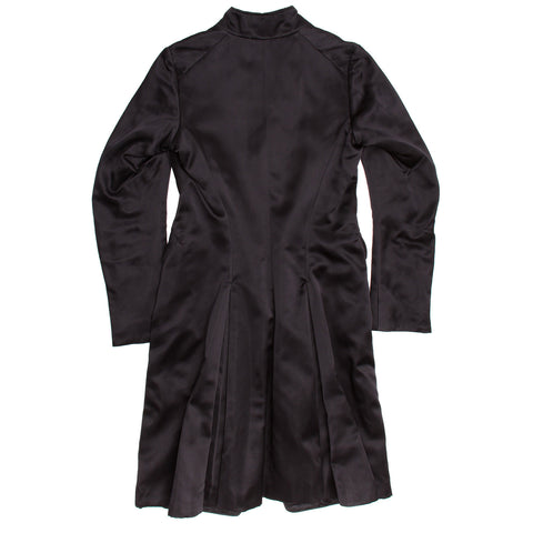 Find an authentic preowned Jil Sander Black Silk Satin Coat, size 40 (French) at BunnyJack, where a portion of every sale goes to charity.