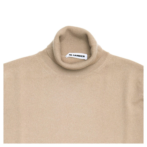 Find an authentic preowned Jil Sander Brown Cashmere Rollneck Sweater, size 42 (French) at BunnyJack, where a portion of every sale goes to charity.