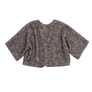 Find an authentic preowned Lanvin Grey Tweed Cropped Jacket, size 40 (French) at BunnyJack, where a portion of every sale goes to charity.