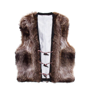 Find an authentic preowned Thom Browne Raccoon Fur Vest size 0 at BunnyJack, where a portion of every sale goes to charity.