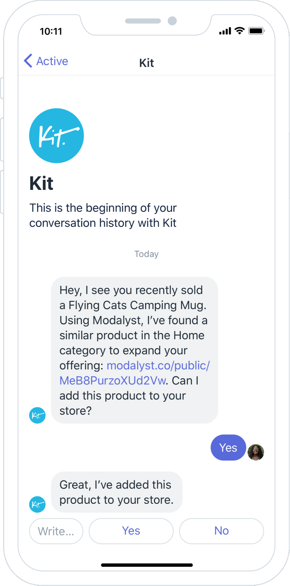 Kit skills app extension example dropshipping