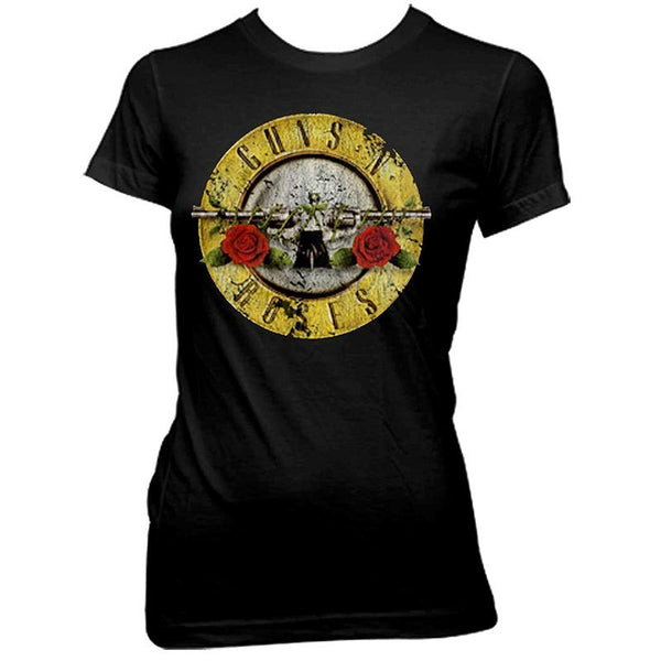 Guns N Roses – Distressed Bullet Logo (Women)