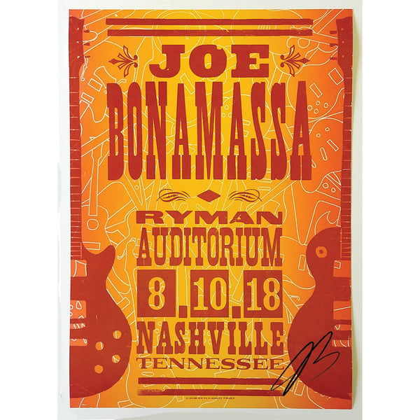 Ryman 2018 Performance Hatch Print - August 10th - Hand-Signed