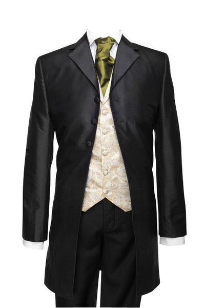 "Frockcoat ""The Dandy"" black taffeta"