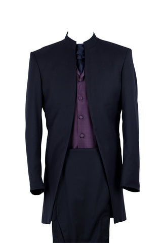"Suit ""Nehru"" in midnightblue wool - By Eneroth"