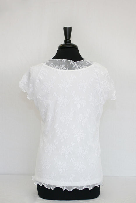 white lace overlay - back