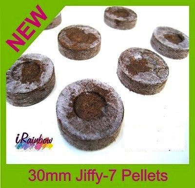 30mm Jiffy Coir Pellets Round - For Plant / Veggie Seeds Propagation