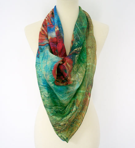 """Bloom"" Square Scarf"