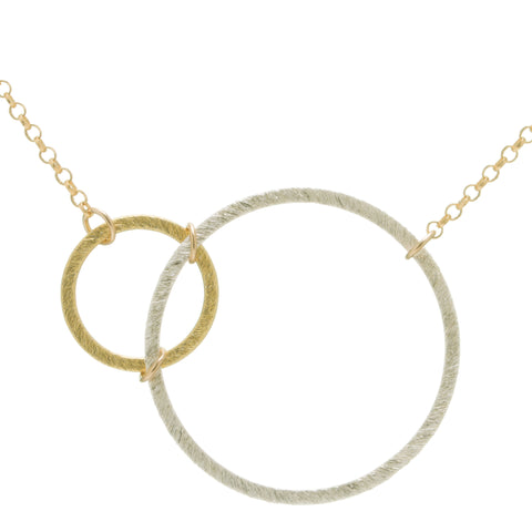 Abstract Circles Necklace