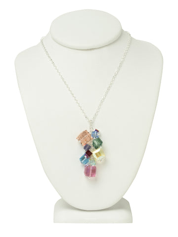 Colorful Crystal Charm Necklace