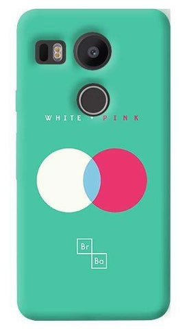 White + Pink   Nexus 5X Case