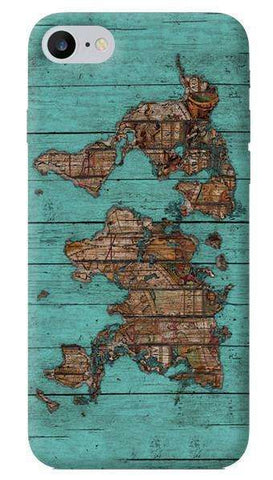 Wood Map Apple iPhone 6/6S Case