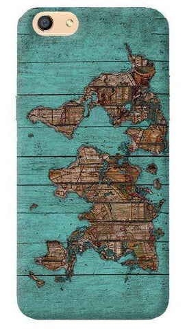 Wood Map Oppo F1s Case
