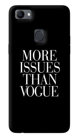 More Issues Than Vogue Oppo F7 Cover