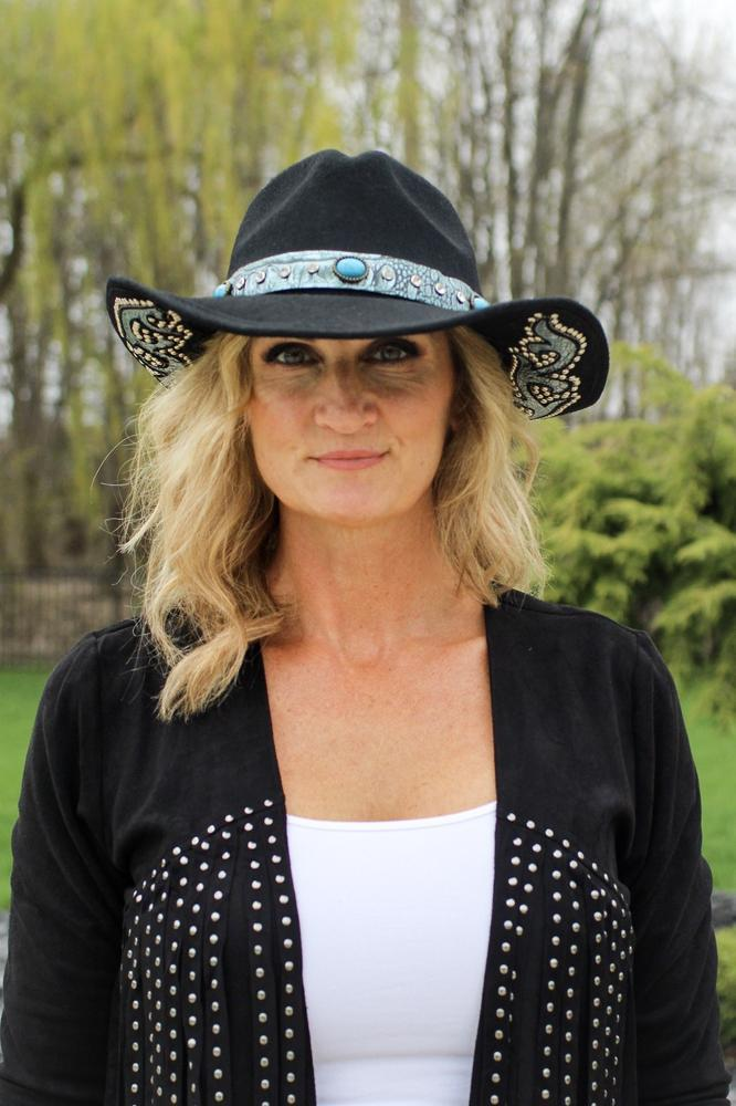Turquoise & Suede Cowboy Hat