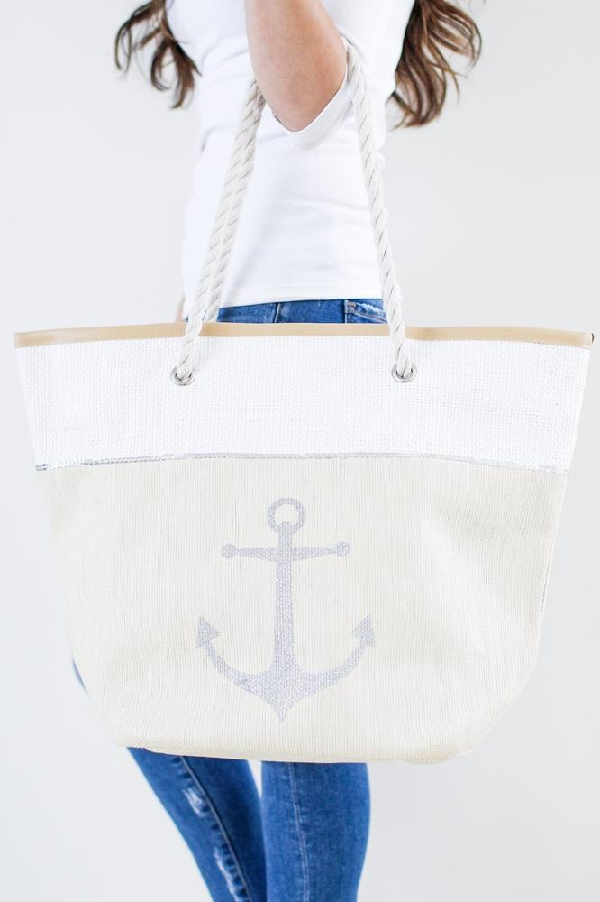 Anchor Front Beach Bag - Glitz & Ears