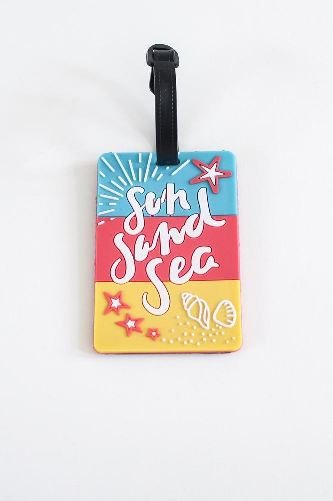 Sun, Sand, Sea Luggage Tag