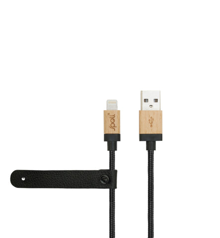 MAPLE BLACK FABRIC Lightning Cable (MFi)
