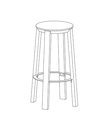 WORKER Stool White
