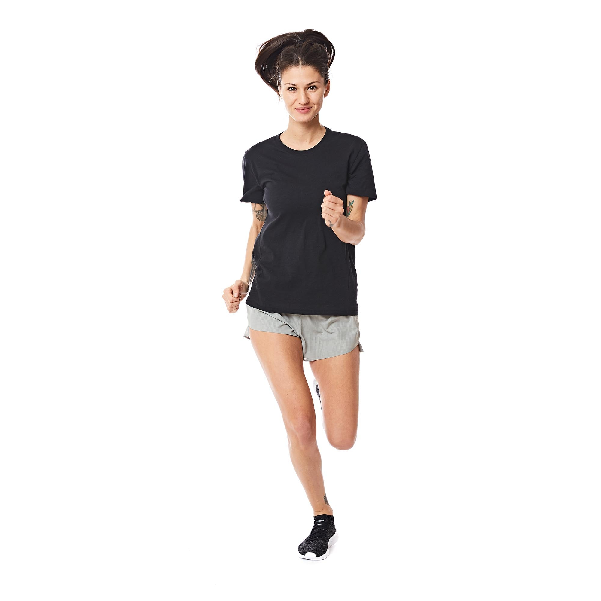 W's Runpaca Short Sleeve in Midnight