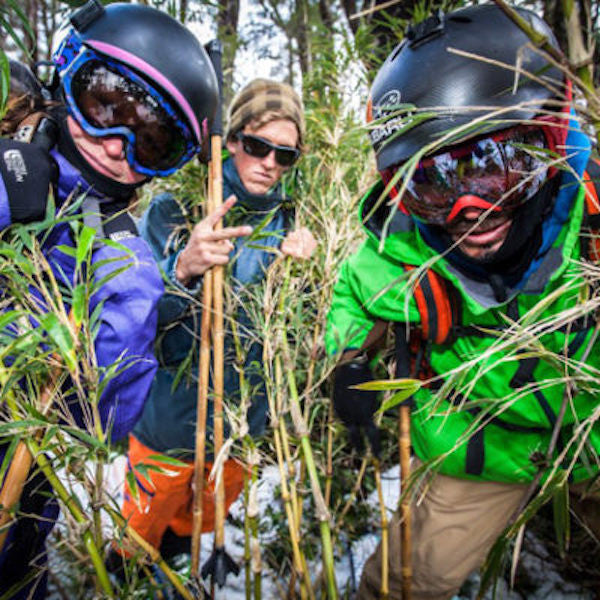 The brands behind bamboo ski poles: Soul, Panda and Blake