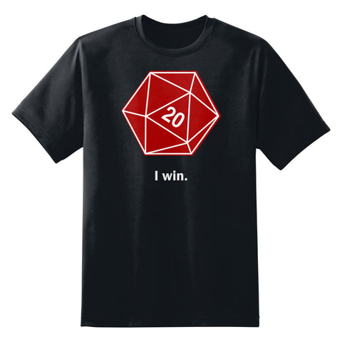 I Win D20 Dice Unisex T-Shirt by Sexy Hackers