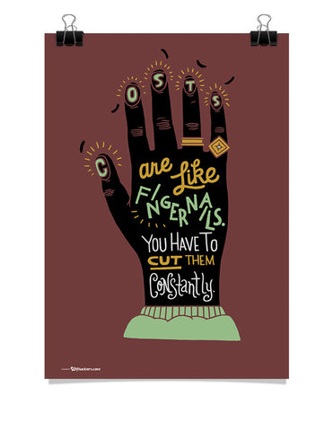 Costs Are Like Fingernails Poster