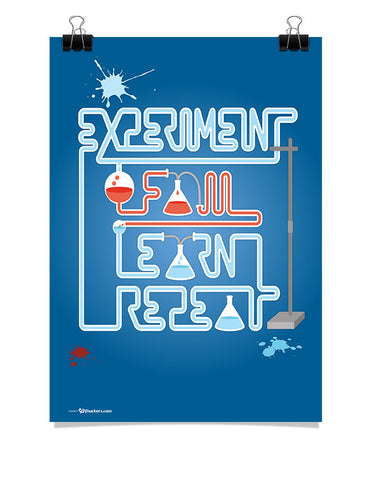 Poster - Experiment. Fail. Learn. Repeat.  - 1