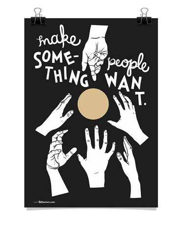 Poster - Make something people want.  - 1