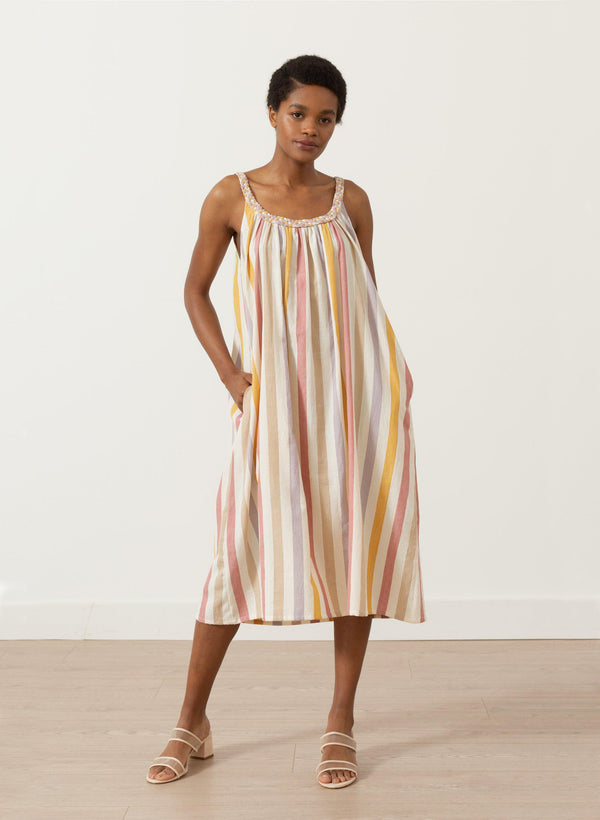 Athens Dress, Tuscan stripe