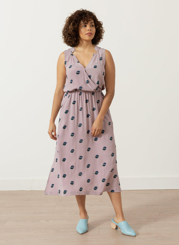 Kim Dress, lavender halves print