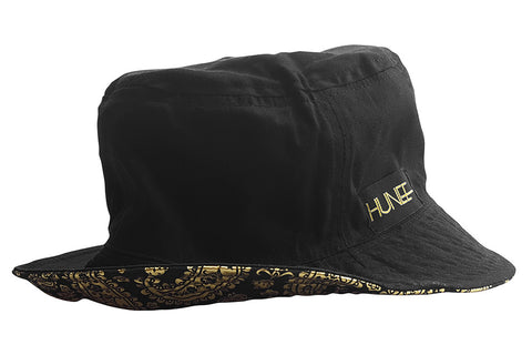 Black and Gold Reversible Bucket Hat