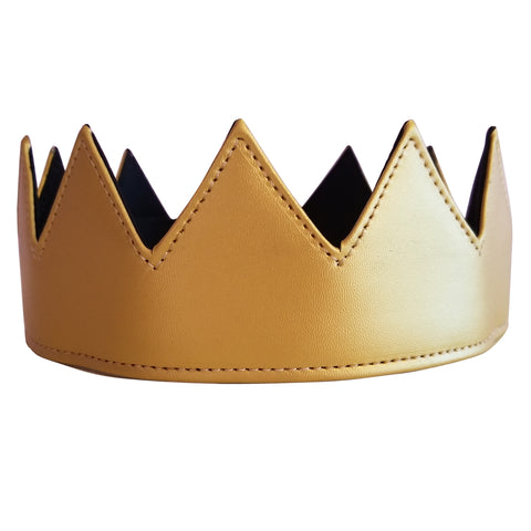 Gold Leather Crown