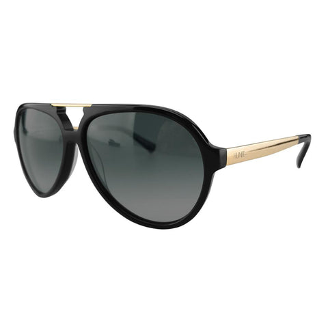 Black and Gold Unisex Aviators