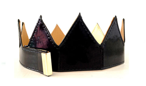 Black Patent Leather Crown
