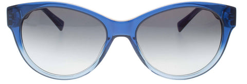 """Catalina"" Blue to Light Blue Gradient Cateye Sunglasses"