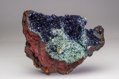 Azurite with Malachite from Liufengshan Mine, Guichi, Anhui Province, China