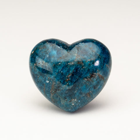 Polished Small Blue Apatite Heart (75 grams)