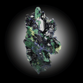 Azurite with Malachite From Tsumeb, Otjikoto Region, Namibia