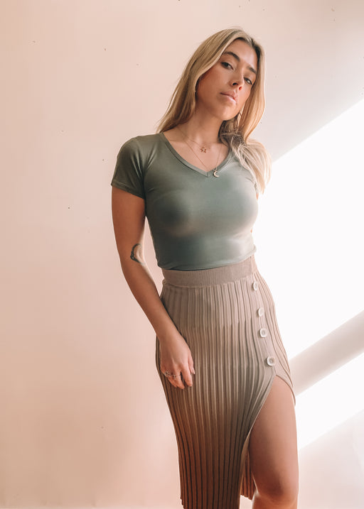 Fall Into You Bodysuit - Khaki
