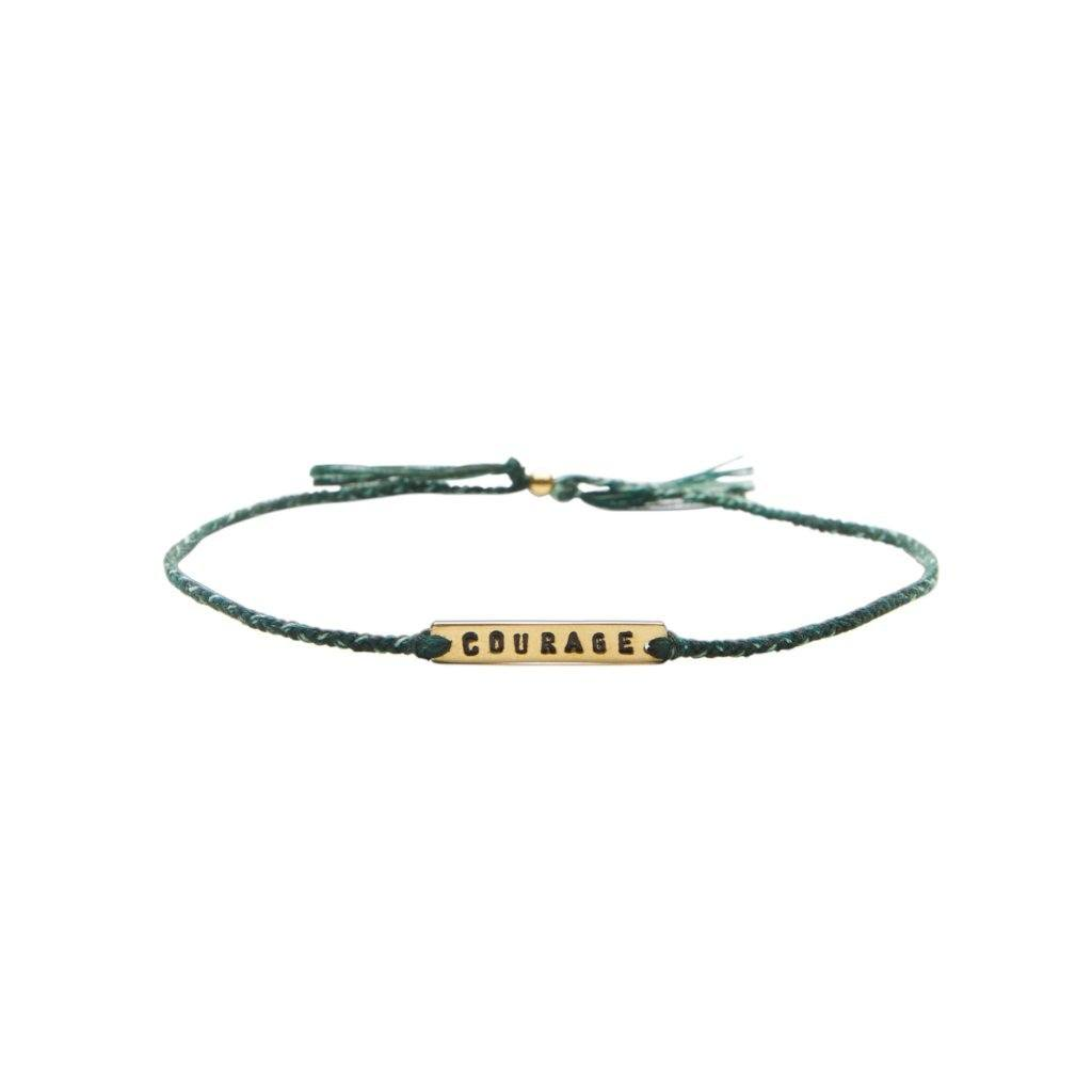 Courage green mix gold handmade bracelet from Santai.no